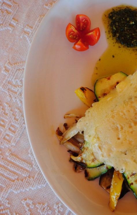 Tortino di verdure grigliate e grana